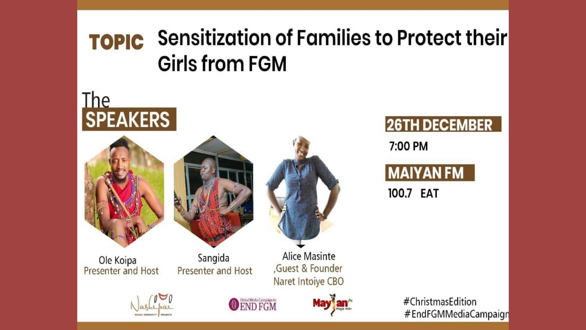 Male caller on Radio asks how he can report FGM cases, Maasai Land, Kenya