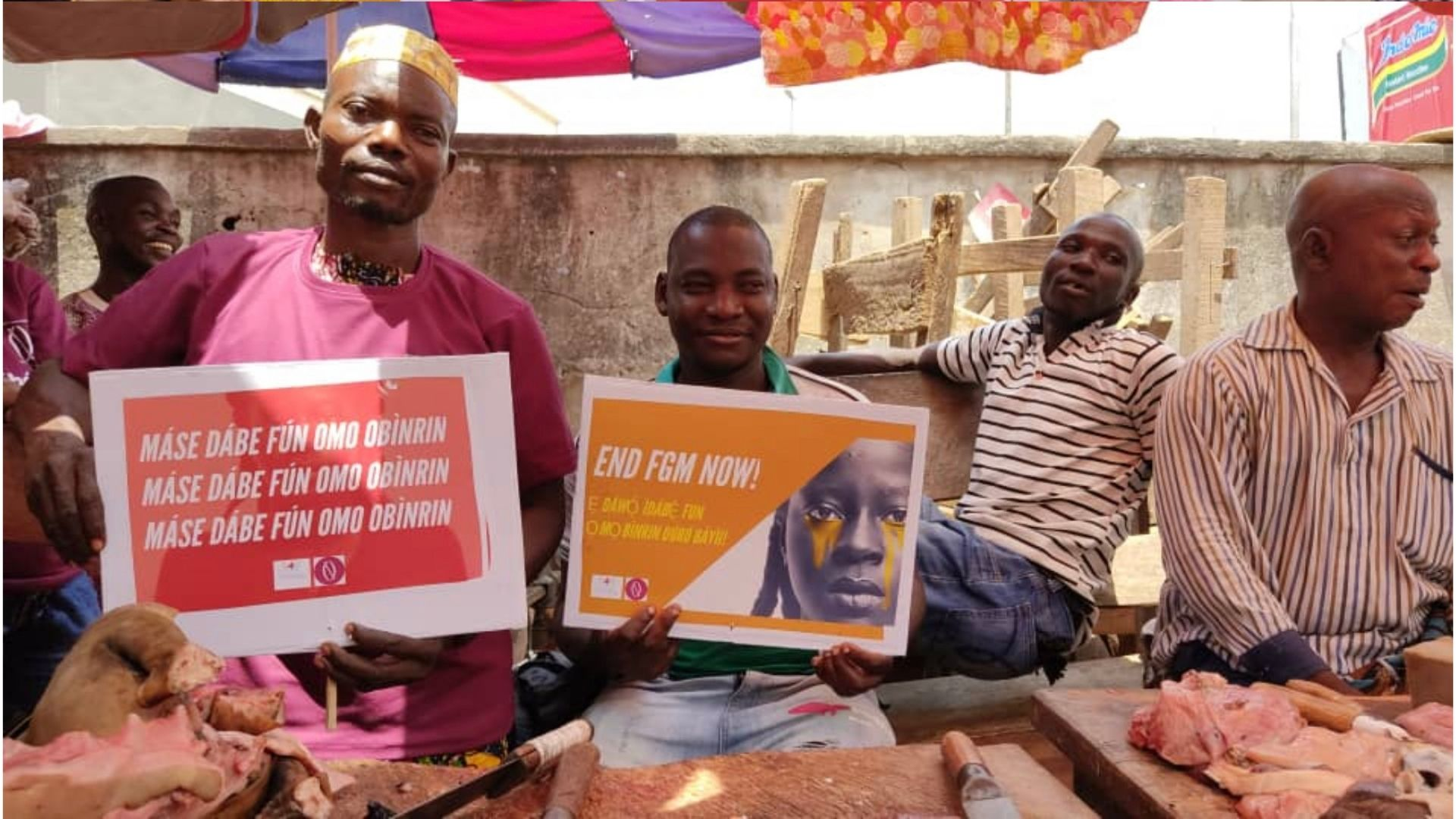 End FGM Campaigner take to the Markets with Media, in Nigeria